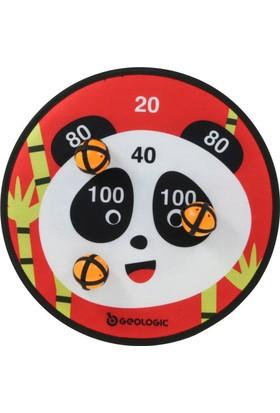 Bıc Yapışkanlı Hedef Dart Hedef Tahtası 3 Top Panda