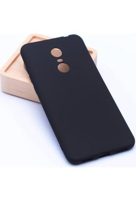 Case 4U Xiaomi Redmi 5 Plus Kılıf Mat Silikon Arka Kapak Premier Siyah