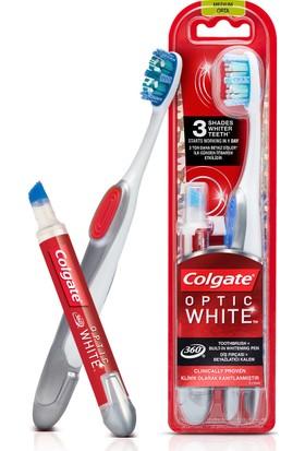 Colgate Diş Beyazlatıcı Kalem + Optic White 360 Diş fırçası