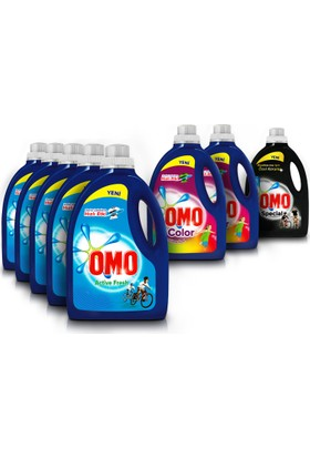 Omo Sıvı Çamaşır Deterjanı Avantaj Paketi 8 x 2250 ml