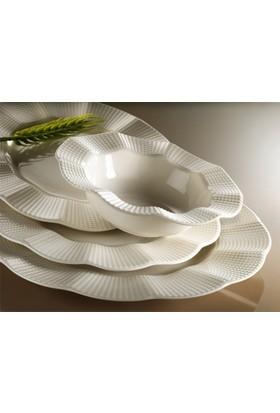 Kütahya Porselen Milena Krem Porselen 6 Kişilik 24 Parça Yemek Takımı