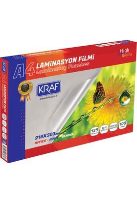 Kraf Laminasyon Filmi Parlak A4 125Mıc 100Lü 2124