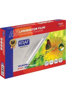 Kraf Laminasyon Filmi Parlak A5 125Mıc 100Lü 2125