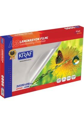 Kraf Laminasyon Filmi Parlak A3 125 Micron 100'lü Paket (2123)