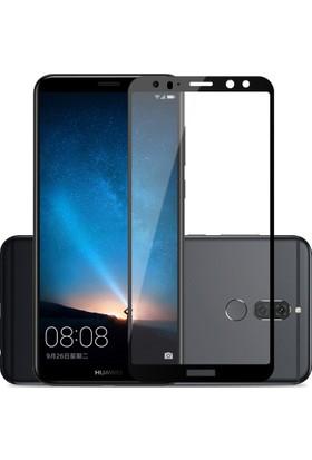 Case 4U Huawei Mate 10 Lite Tam Kaplayan Ekran Koruyucu - Nano Fiber - Siyah