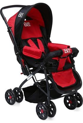 Babybee Çift Yönlü Bebek Arabası Kırmızı