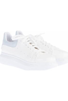 Pembe Potin Alessandra Beyaz Mavi Kadın Ayakkabı