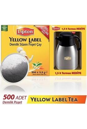 Lipton Yellow Label Poşet 500'lü - 1,5 litre Termos Hediyeli !
