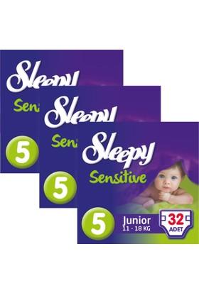 Sleepy Sensitive Bebek Bezi 5 Beden Junior Jumbo Paket 32X3 96 Adet