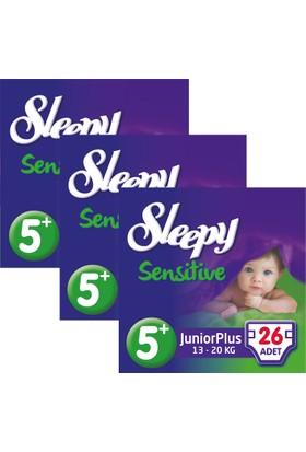 Sleepy Sensitive Bebek Bezi 5+ Beden Junior Plus Jumbo Paket 26X3 78 Adet