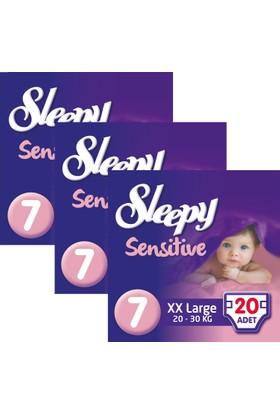 Sleepy Sensitive Bebek Bezi 7 Beden XXL Jumbo Paket 20X3 60 Adet