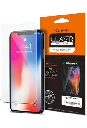 Spigen Apple iPhone X Cam Ekran Koruyucu GLAS.tR SLIM - 057GL22105