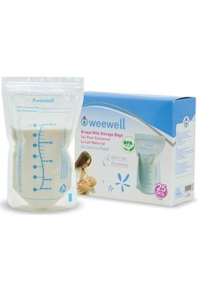 Weewell WMS800 Süt Saklama Poşeti - 25'li