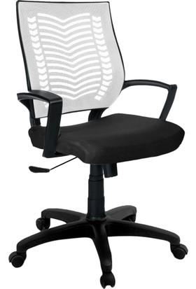 YMV Ofis Sandalyesi, Çalışma ve Bilgisayar Sandalyesi , Beyaz Sırt