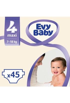 Evy Baby Bebek Bezi Maxi 4 Beden Jumbo Ekonomik Paket 45 Adet