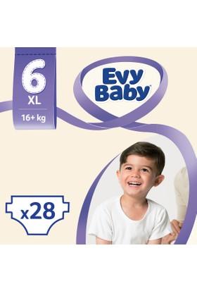 Evy Baby Bebek Bezi Ekstra Large 6 Beden Jumbo Ekonomik Paket 28 Adet
