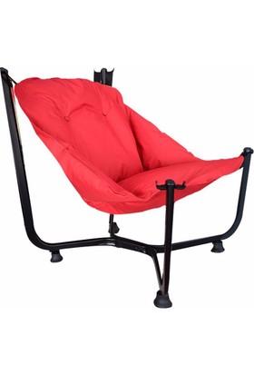 Bronzy Relax Bahçe Sandalyesi Kırmızı