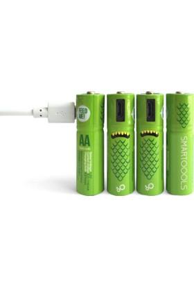 Smartoools AA4 - Micro USB ile Şarj Edilebilir Pil