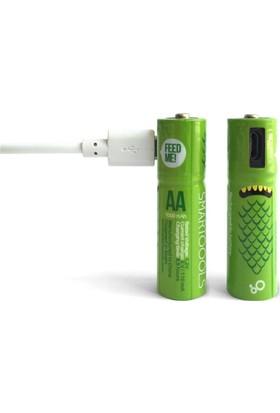 Smartoools AA2 - Micro USB ile Şarj Edilebilir Pil