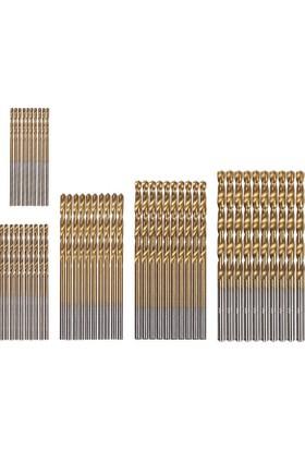 Jw HemdeHemen 50 Adet Hss Titanyum Kaplama Mini Yüksek Hızlı Matkap Ucu