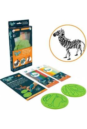 3Doodler Start (3 Boyutlu Kalem)İçin Doodleblock Kıts - Wild Animals Set