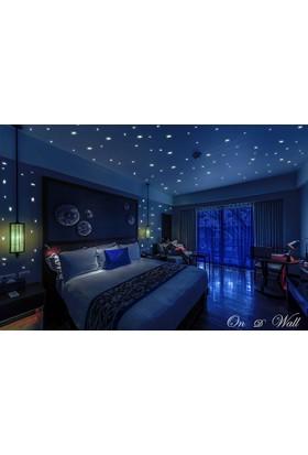 Jwl Yeşil 200 Adet Fosforlu Yıldız Sticker Duvar Süsleme Gece Parlayan Yıldız Çıkartma