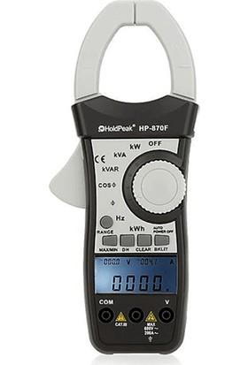 Holdpeak Hp-870F Ac True Rms Güç Ölçer Pensampermetre