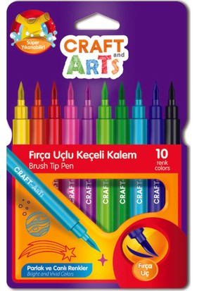 Craft And Arts Keçeli Fırça Uçlu 10'Lu
