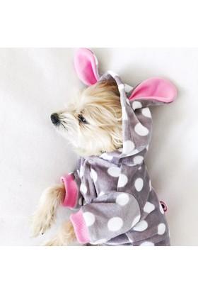 Kemique Teddy Dots Kulaklı Tulum Köpek Kıyafeti