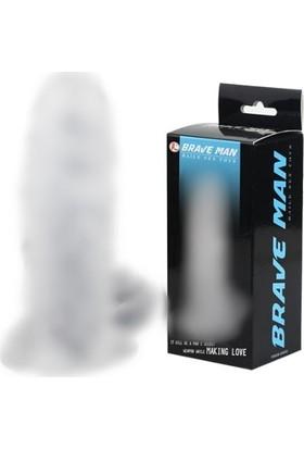 Baile Brave Man Klitoris Temaslı Şeffaf Penis Kılıfı
