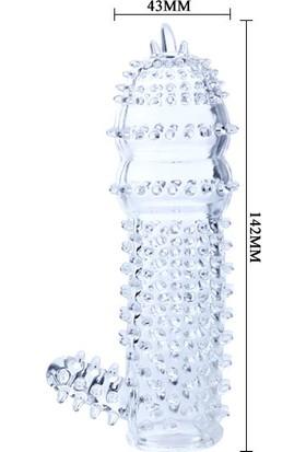 Baile Kabartmalı Kristal Görünümlü Güçlü Penis Ve Dildo Kılıfı