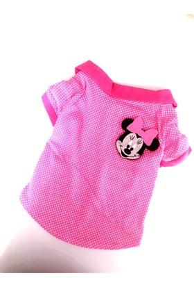 Kemique Mını Fare Pembe Polo Yaka Tişört Kedi Kıyafeti