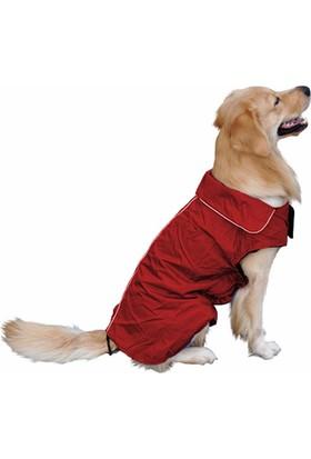 Kemique Büyük Irk Kırmızı Köpek Yağmurluğu