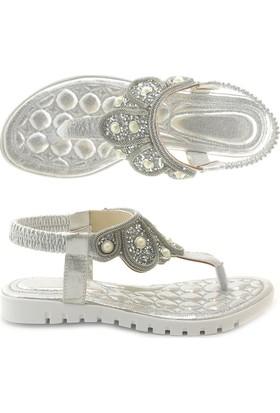 Lady 0025 Taşlı Parmak Arası Sandalet