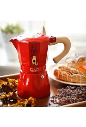 Biggdesign Cats in İstanbul Espresso Makinası Kırmızı by Zeynep Pak
