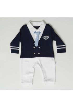 Mymio 436 Pilot Kravatlı Tulum Erkek Bebek