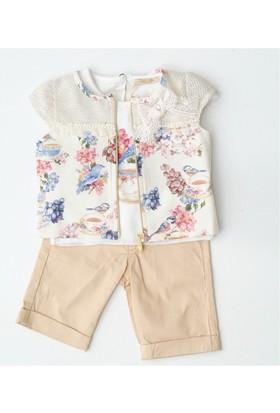 Babyrose 2141 Fileli Takım Kız Bebek