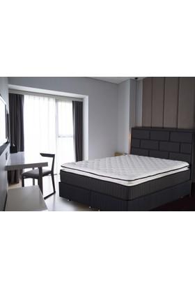 GRAND BEDS Addax Tam Ortopedik Yaylı, Kuştüyü pedli ve Keten kumaşlı Yatak