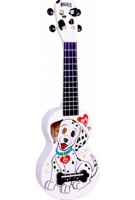 Mahalo Soprano Ukulele (Dalmatian White)