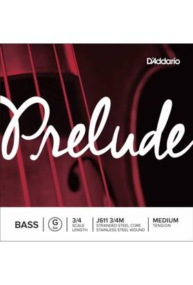 D'Addario J611 3/4M Prelude Tek Bas Teli (G)