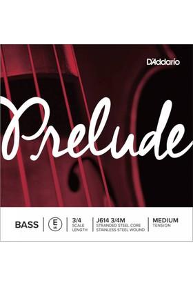 D'Addario J614 3/4M Prelude Tek Bas Teli (E)