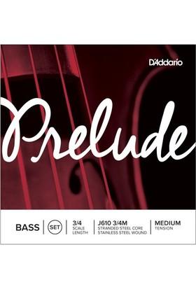 D'Addario J610 3/4M Prelude Bas Teli
