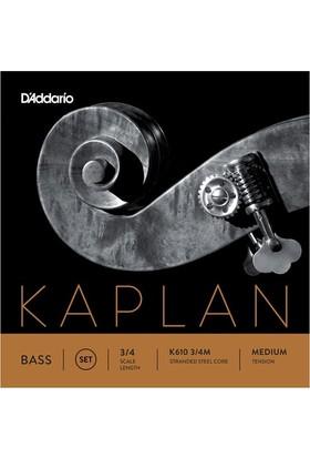 D'Addario Kaplan K610 3/4M Kontrabas Teli