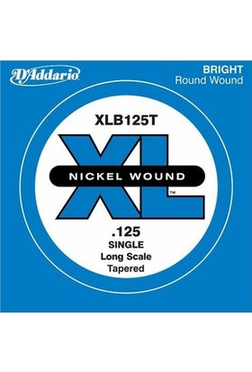 D'Addario XLB125T Tek Bas Gitar Teli (125T)