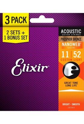 Elixir Nanoweb Bronze Akustik Gitar Teli (11-52)