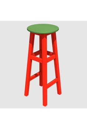 Arbre Bar Taburesi 75 cm ( Kırmızı Iskelet ) Yeşil