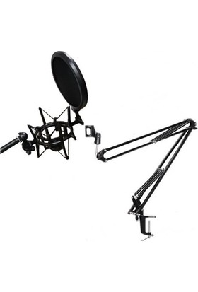 Lastvoice Nb39 Masa Mikrofon Standı (Sehpa) + Sh-101 Pop Filtre Ve Shock Mount Set