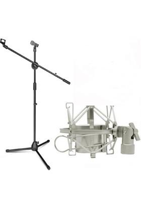 Lastvoice Ms06 Mikrofon Standı ( Ayağı ) + Shock Mount