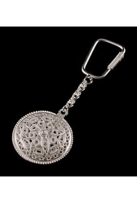 Akyüz Gümüş Kişiye Özel Telkari Gümüş Anahtarlık Anh039