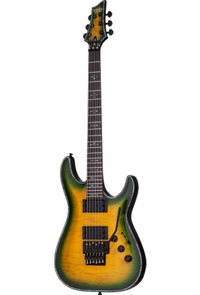 Schecter Hellraiser C-1 FR Passive Elektro Gitar (Dragon Burst)